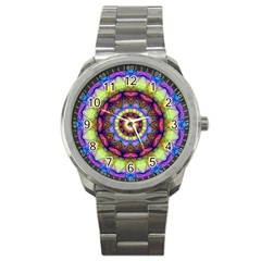 Rainbow Glass Sport Metal Watch