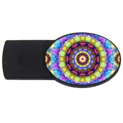 Rainbow Glass 4gb Usb Flash Drive (oval)