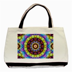 Rainbow Glass Twin-sided Black Tote Bag