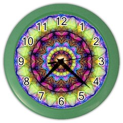 Rainbow Glass Wall Clock (color)