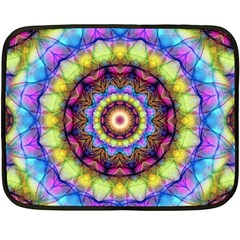 Rainbow Glass Mini Fleece Blanket (Two Sided)