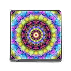 Rainbow Glass Memory Card Reader with Storage (Square)