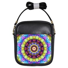 Rainbow Glass Girl s Sling Bag