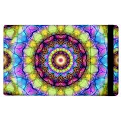 Rainbow Glass Apple Ipad 2 Flip Case
