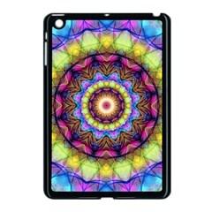 Rainbow Glass Apple iPad Mini Case (Black)