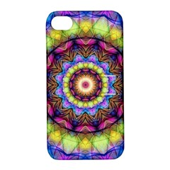 Rainbow Glass Apple Iphone 4/4s Hardshell Case With Stand