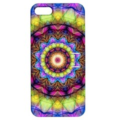 Rainbow Glass Apple iPhone 5 Hardshell Case with Stand