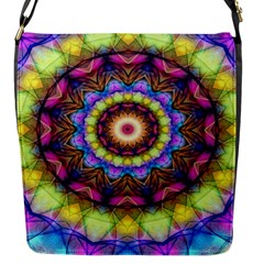 Rainbow Glass Flap Closure Messenger Bag (Small)
