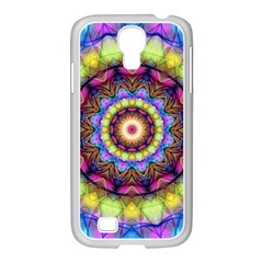 Rainbow Glass Samsung GALAXY S4 I9500/ I9505 Case (White)