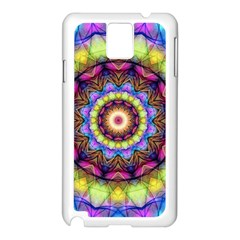 Rainbow Glass Samsung Galaxy Note 3 N9005 Case (White)