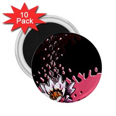 Flower 2.25  Button Magnet (10 pack)