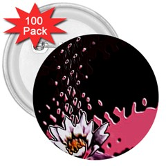 Flower 3  Button (100 pack)