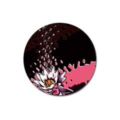 Flower Magnet 3  (Round)