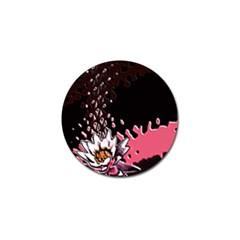 Flower Golf Ball Marker 10 Pack