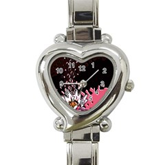 Flower Heart Italian Charm Watch