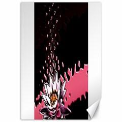 Flower Canvas 12  X 18  (unframed)