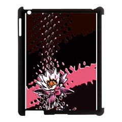 Flower Apple Ipad 3/4 Case (black)