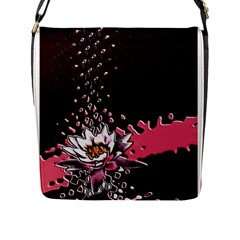 Flower Flap Closure Messenger Bag (Large)