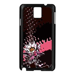 Flower Samsung Galaxy Note 3 N9005 Case (Black)