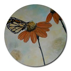 Monarch 8  Mouse Pad (Round)
