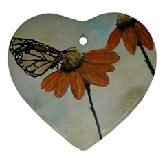 Monarch Heart Ornament