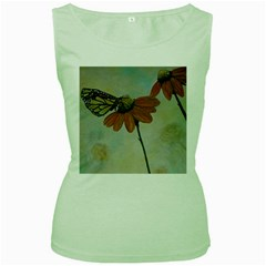 Monarch Women s Tank Top (Green)