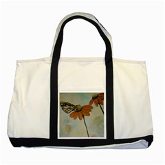 Monarch Two Toned Tote Bag