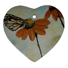 Monarch Heart Ornament (Two Sides)