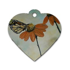 Monarch Dog Tag Heart (one Sided)
