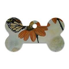 Monarch Dog Tag Bone (One Sided)