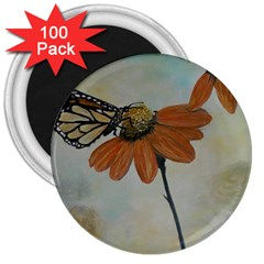 Monarch 3  Button Magnet (100 Pack)