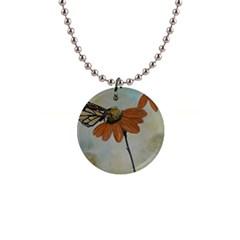 Monarch Button Necklace
