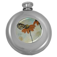Monarch Hip Flask (Round)