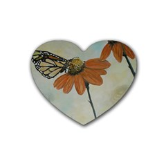 Monarch Drink Coasters 4 Pack (Heart)