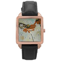 Monarch Rose Gold Leather Watch