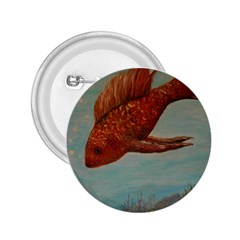 Gold Fish 2.25  Button