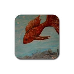 Gold Fish Drink Coaster (Square)