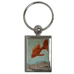 Gold Fish Key Chain (rectangle)
