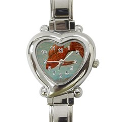 Gold Fish Heart Italian Charm Watch