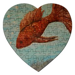 Gold Fish Jigsaw Puzzle (Heart)