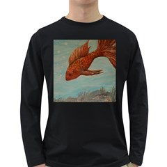 Gold Fish Men s Long Sleeve T-shirt (Dark Colored)
