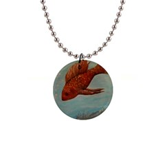 Gold Fish Button Necklace