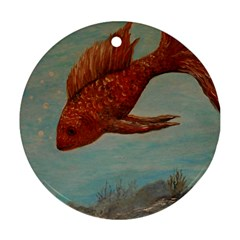 Gold Fish Round Ornament (Two Sides)