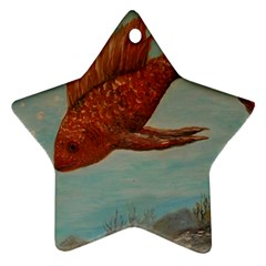 Gold Fish Star Ornament (two Sides)