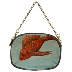 Gold Fish Chain Purse (One Side)