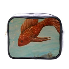 Gold Fish Mini Travel Toiletry Bag (One Side)