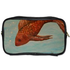 Gold Fish Travel Toiletry Bag (two Sides)
