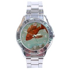 Gold Fish Stainless Steel Watch