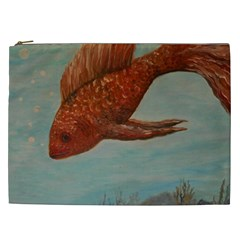 Gold Fish Cosmetic Bag (XXL)
