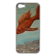 Gold Fish Apple iPhone 5 Case (Silver)